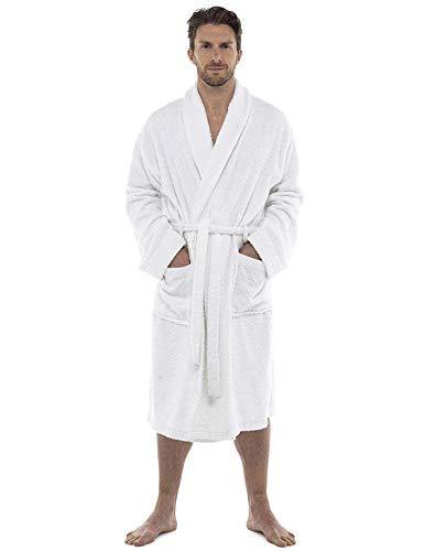 CityComfort Herren Frottee-Bademantel 100% Baumwolle Frottee-Bademantel Badekurort-Hotel-Robe-Feiertagsgröße M/L, L/XL, 2XL, 3XL und 4XL (4XL, ()