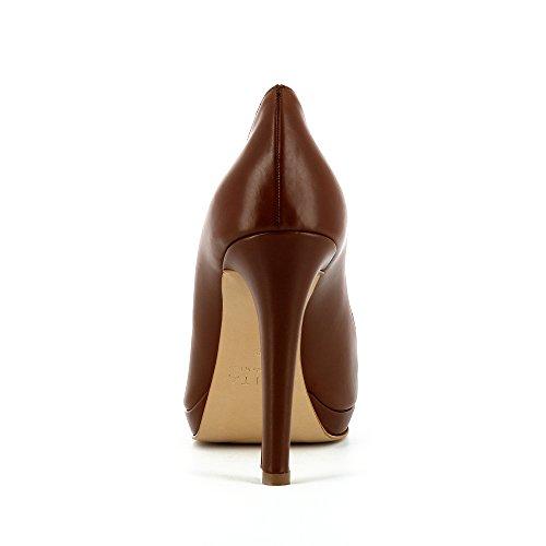 Scarpe In Pelle Liscia Cristina Donna Cognac 8qdwxE