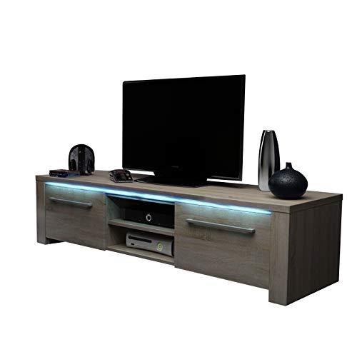 Selsey Messa Sonoma Meuble TV Chêne Clair 140 x 42,2 x 39,5 cm
