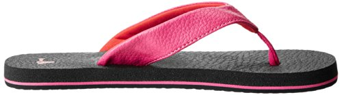 Sanuk Yoga Mat Kids, Tongs fille Rose (Hot Pink/Red)