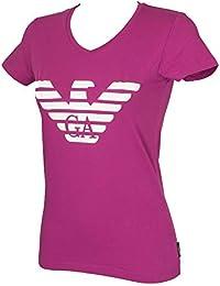 4a79ad1bb12 Emporio Armani T-Shirt Femme V Manches Courtes Article 163321 9P317