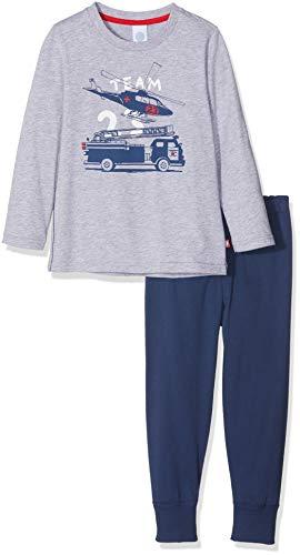 Sanetta Jungen Zweiteiliger Schlafanzug Pyjama Long Grau (Grey Mel. 1737) 104