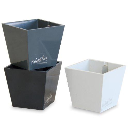 a magnetische Vase - Set mit 3 Pyramiden, grau Theme, Ø 5,5 cm (Kunststoff-zylinder Vase)