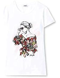 LIUJO JEANS2 T-Shirt T Shirt Moda Donna MOD. LIUF19090 J7821 Bianco XS e40fa1a3e80