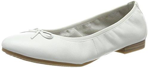 Tamaris Damen 22116 Ballerinas, Weiß, 39 EU