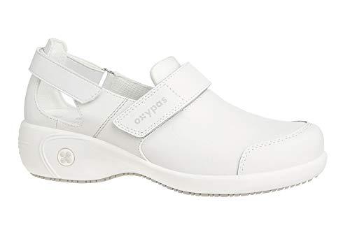 Oxypas Move Up Salma Slip-resistant, Antistatic Nursing Shoes, White, 5 UK (38 EU) - Human Leder
