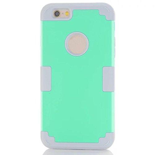 For iPhone 6 Plus / 6S Plus Hülle, Ouneed Hybrid Auswirkungen stoßfest Muster weichem Gummi Schutzhülle Case Cover Hülle für iPhone 6 Plus/6S Plus(5,5 Zoll) (Rot) Grün