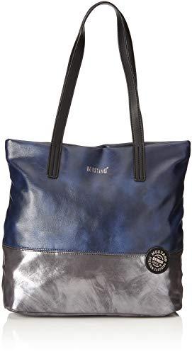 MUSTANG Damen Bennsville Macy Shopper Lvz Tote, Blau (Dark Blue), 14x32x41 cm