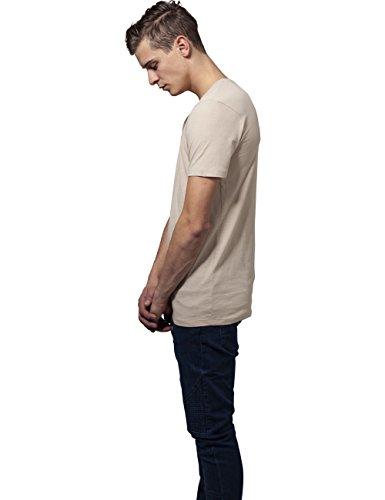 Urban Classics Herren T-Shirt Basic V-Neck Tee Elfenbein (sand 208)
