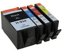Printing Pleasure 4 Compatibles HP 934XL HP 935XL Cartuchos de Tinta Reemplazo para HP Officejet Pro 6230 6812 6815 6820 6825 6830 6835 - Negro/Cian/Magenta/Amarillo, Alta Capacidad