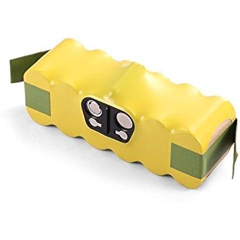 BAKTH Batería para iRobot Roomba 68939 14.4V 3500mAh (Tipo de batería poder NiMH) Batería de Repuesto para iRobot Roomba 500 510 520 530 532 535 540 550 555 560 562 563 570 580 581 610 760 770 780 80501 Discovery Series Robotic Vaccums / Reemplazado: 11702 / 400000191 / GD-Roomba-500 / VAC-500NMH-33 - 18 meses de garantía (Amarillo) + Regalo(Coasters estilo