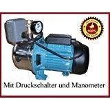 Kreiselpumpe Gartenpumpe Jetpumpe mit Verschraubung, Druckschalter und Manometer - 3