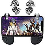 SUMYEE Fortnite PUBG Battle Royale L1R1 Sensitive Shoot and Aim Mobile Game Controller, Trigger for Mobiles (4 Triggers+2 Grips)