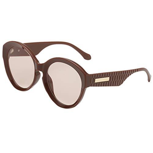 Yolmook Fashion Herren Damen Sonnenbrille, unregelmäßige Form, Vintage-Retro-Stil Gr. Einheitsgröße, B