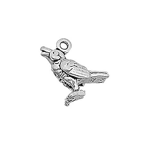 925 Sterlingsilber-Charme Tiere Vögel Aufruf Vogel von Silber Einzelhandel