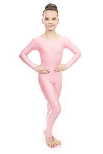 Vincenza Dancewear Deluxe Lang- und Kurzarm-Ganzkörper-Catsuits 11-13 Jahre, Blassrosa (Langarm)