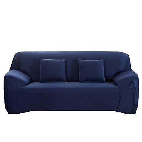 WINOMO Housse de Canapé 3 Places avec Accoudoirs Extensible Élastique 230 x 195 cm (Bleu Marine)