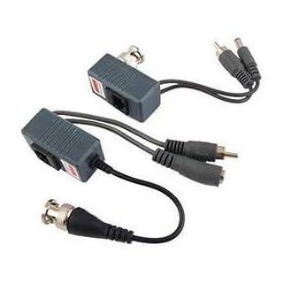 Transceiver CCTV Cat5 Balun RJ45 Video Audio Power für Kamera 1 Paar