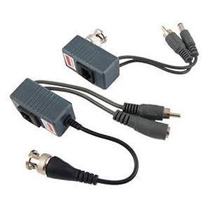 CCTV Balun Transceiver CAT5 RJ45 Vidéo Power Audio Balun pour