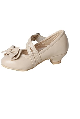 shoe flangia doppia nodo cerimonia figlia e beige Beige