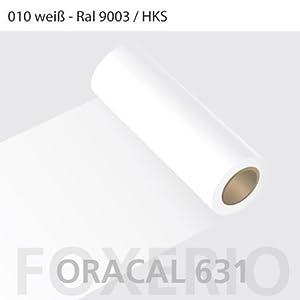 Orafol - Oracal 631 - 31cm Rolle - 5m (Laufmeter) - Weiß / matt, A22oracal - 631 - 5m - 31cm - 02 - kl - Autofolie / Möbelfolie / Küchenfolie