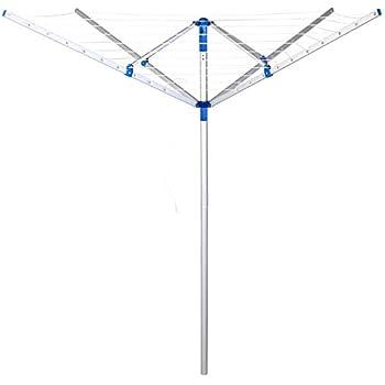 138x138x195cm HOMCOM Stendibiancheria a Ombrello da Giardino Altezza Regolabile Pieghevole in Alluminio