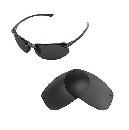 Walleva Ersatzgläser für Maui Jim Banyans Sonnenbrille - Verschiedene Optionen erhältlich, Unisex-Erwachsene, Black - ISARC Polarized, Einheitsgröße
