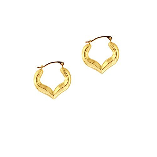 10k-yellow-gold-polish-finish-3x17x18mm-heart-hoop-earring-with-click-top-clasp-by-diamond-sphere