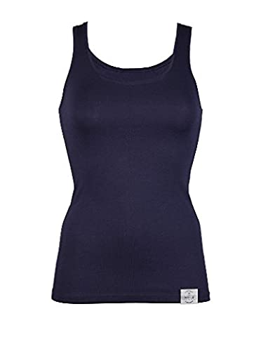 RJ Traditional Bodywear 32-019 Women's The Good Life Dark Blue Lyocell Cotton Tank Vest Top Small