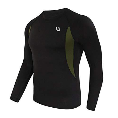 UNIQUEBELLA Thermounterwäsche Unterhemd, Funktions Herren Funktionswäsche Skiunterwäsche Winter Suit Ski Thermo-Unterwäsche Thermowäsche (Schwarz, L) -