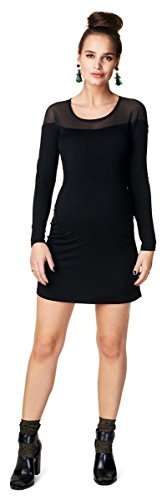 Noppies Damen Umstandskleid Dress Woven Ss Elise (36 (Herstellergröße: S), schwarz (Black))
