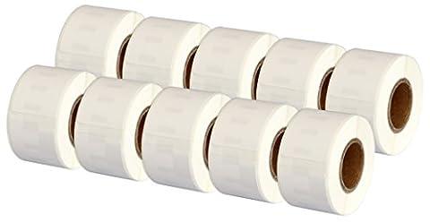 10x Dymo Seiko 99010 28 x 89 mm Compatible Address Labels Rolls (130 Labels per Roll) for Dymo LabelWriter 310, 320, 330, 330 Turbo, 400, 400 Turbo, 400 Twin Turbo, 400 Duo, 450, 450 Turbo, 450 Twin Turbo, 450 Duo, 4XL, EL40, EL60, Seiko SLP 100, 120, 200, 220, 240, 400, 410, 420, 430, 440, 450, Pro, Plus Label Printers