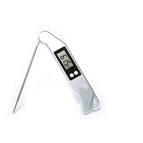 Jamicy BBQ Grill-Thermometer Temperaturfühler Funk Digital Edelstahlsonde Digital Wireless Remote Barbecue Fleischthermometer mit eingebautem Timer (Wireless-grill Remote Thermometer)