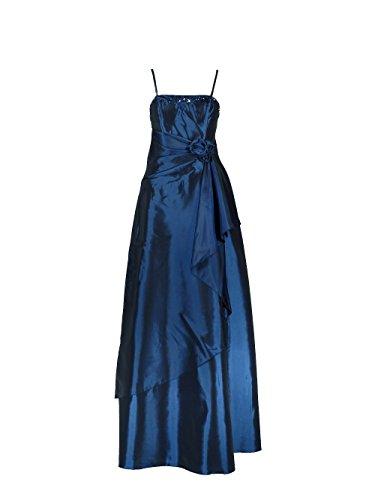 Samtlebe® - Elegantes Taft Abendkleid C641 1-teilig lang in Royalblau Gr. 34-50 inkl. Stola Royalblau