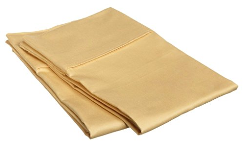 Fadendichte 300ägyptische Baumwolle Kissenbezüge Paar (2) King Gold massiv von marrikas -