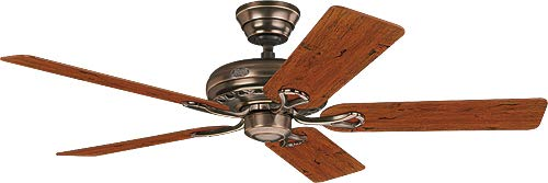 Hunter 24525 ventilador de techo Savoy - bronce ambar