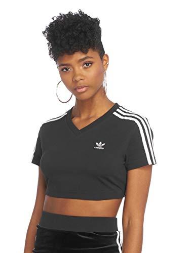 adidas Damen Cropped T-Shirt, Black, - T Adidas Shirt Bauchfrei