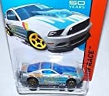 2014 Hot Wheels '13 Ford Mustang GT Silver and Blue 161/250 HW RACE Track Aces 50th Year Mustang Anniversary