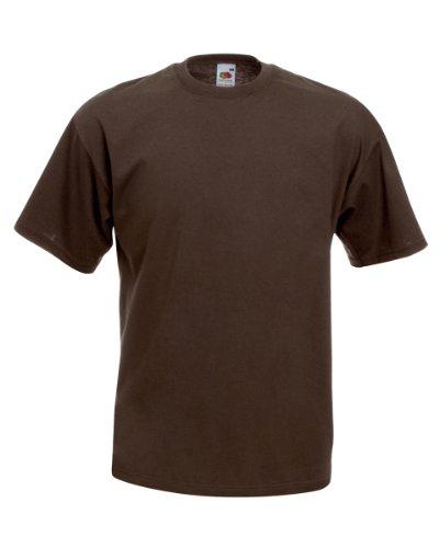 Valueweight T, Größe:M;Farbe:Chocolate M,Chocolate (Braun Baumwolle Shirt)