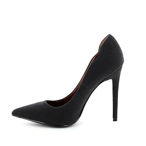 Go Tendance - Escarpins stiletto bout pointu - Noir - Femme Noir
