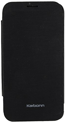 iCandy™ Synthetic Leather Flip Cover For Karbonn Titanium S9 - BLACK  available at amazon for Rs.170