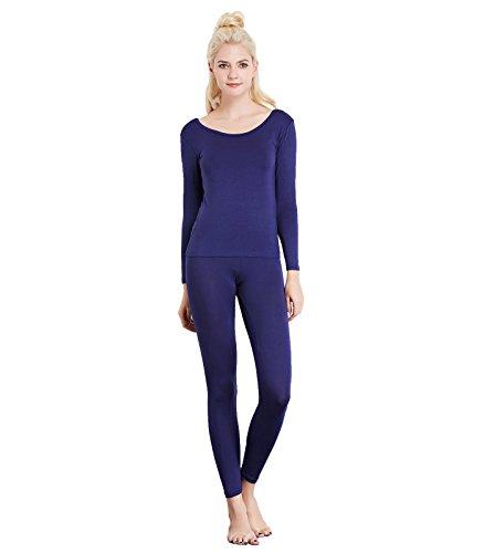 Ärmelloses Dri (Liang Rou Damen U-Außchnitt Stretch dünnes Unterwäsche Set, Leggings und Langarmshirt)