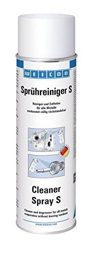 WEICON Sprühreiniger S | 500 ml | Entfetter für Metall Glas Keramik und Kunststoff | Der Teilereiniger für Industrie sowie Haushalt | Spray überkopf anwendbar | Geruch: Orange
