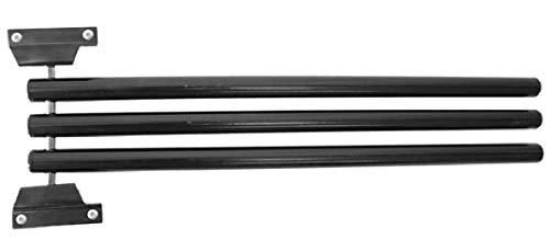 NETPROSHOP Deckenhalter für Pferdedecken mit 3 Schwenkbaren Armen Schwarz