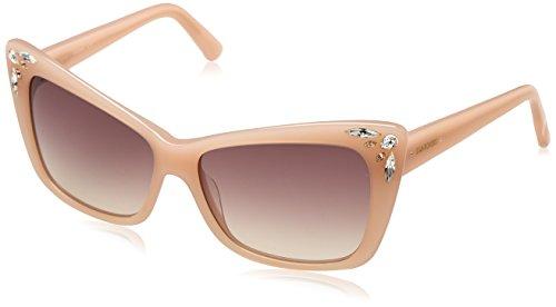 Swarovski sk0103-5672f, occhiali da sole donna, rosa (shiny pink/gradient brown), 56
