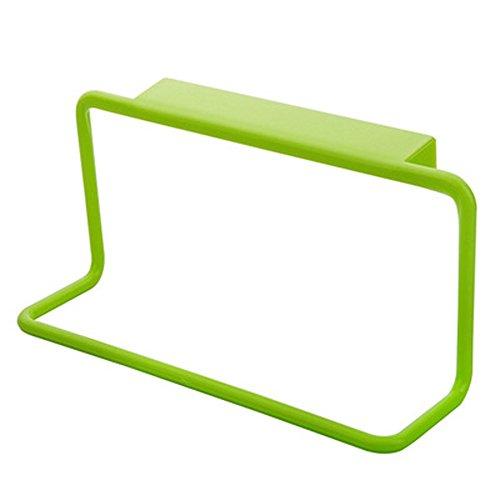 1 StüCk Einfacher Kleiderbügel Kunststoff Spurlos Küchenschrank Haken Korb Lappen Hängen Abnehmbarer Selbstklebend Handtuchhaken Küche Handtuchhalter Kleiderhaken Ohne Bohren (19x9x5.5cm, Grün)
