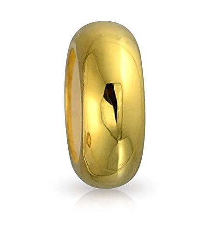 ESM24 925 Sterling Silver Bead Spacers mit 18 krt. vergoldet, with Rubber Inside, Stopper aus 925er-Sterlingsilber mit Gummi-Stopper für Pandora- / Chamilia- / Biagi- / Troll- / europäische Armbänder (Pro Schmuck Pandora Armband)