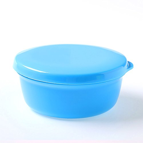 (CTGVH 1Portable Seifenschale, versiegelt rund Tragbarer Seife Box für Dusche, Reisen, Polypropylen, blau, 10,2 cm)