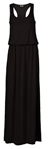 sugerdiva Mesdames Toga longue Veste pour femme robe maxi Puff Ball Ballon Noir