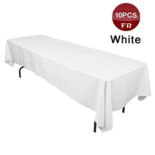 Polyester nahtlose Tischdecke runden Partei Table Cover billig Quadratische Tischdecke für Hochzeiten Tabelle Overaly, weiß, 270 cm Rund, China ()
